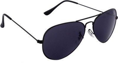 Gansta Gansta GN-3002 full black aviator sunglass Aviator Sunglasses(Black)