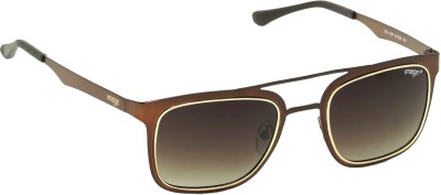 IMAGE IM-573-C3P Rectangular Sunglasses(Brown)