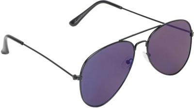 SHOPING RED Contemporary Aviator Sunglasses