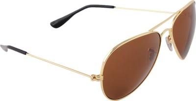 Malocchio Solid Charm Aviator Sunglasses