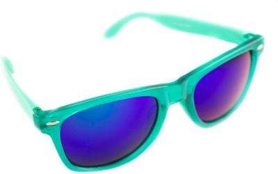 Abqa Good Quality Mirror Coated Wayfarer Sunglasses