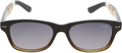 Vast HANDMADE ACETATE RECTANGLE BROWN Wayfarer Sunglasses(Brown)