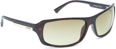 Guess GUESS UNISEX 6820 MTO-34 Wrap-around Sunglasses(Brown)