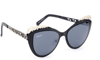 Amaze AM04201 Cat-eye Sunglasses(Black)