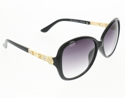 Vast Womens Fashion Crystal Over-sized Sunglasses