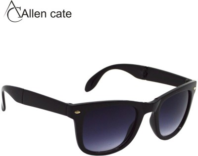 Allen Cate Black Folding Wayfarer Sunglasses