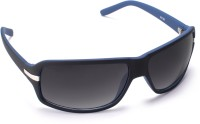 Cruzaar PBL13PR Rectangular Sunglasses(Black)