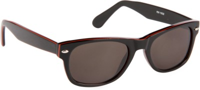 Cristiano Ronnie Black & Red Wayfarer Sunglasses