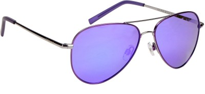Polaroid PLD6012/S R4BMF Aviator Sunglasses(Grey, Blue)