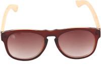 Dtree DTS007 Wayfarer Sunglasses(Brown)