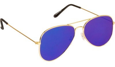 Danny Daze D-704-C4 Aviator Sunglasses(Blue)