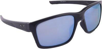 Oakley Mainlink Polished Black w/ Prizm Deep Water Polarized Wayfarer Sunglasses