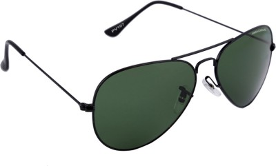 Provogue PV1007-Blk-G15 Aviator Sunglasses(Green) at flipkart