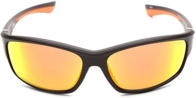 IDEE IDEE S2014 C3 63 Wrap-around Sunglasses(Blue, Red)