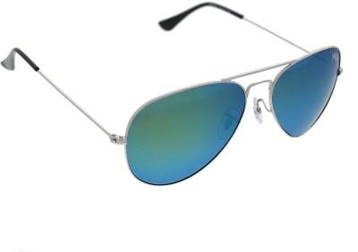 Vast MIRROR GUN SILVER AVIATOR POLO Aviator Sunglasses(Silver)