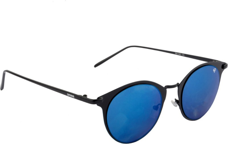 Superman SM-582-C5 Round Sunglasses(Blue)