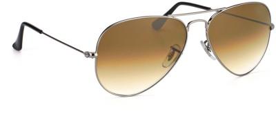 Jewel Fuel Stylish Brown Aviator Sunglasses