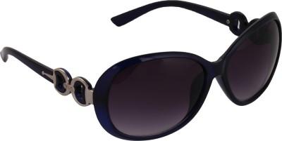 Pede Milan PM-182-Stylish-Women-Blue Oval Sunglasses(Violet)