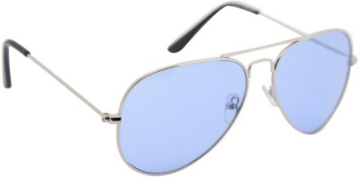 Simran SM18 Shiny Blue Aviator Sunglasses