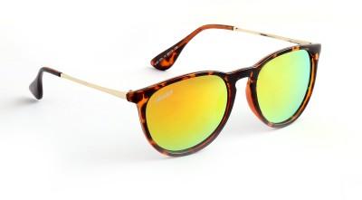 Amaze Yellow Medium Oval Sunglasses