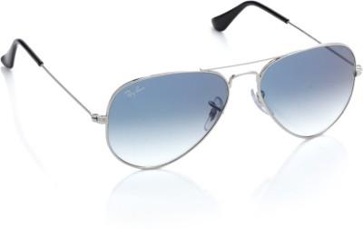 Ray-Ban 0RB3025 003/3F Aviator Sunglasses(Blue)