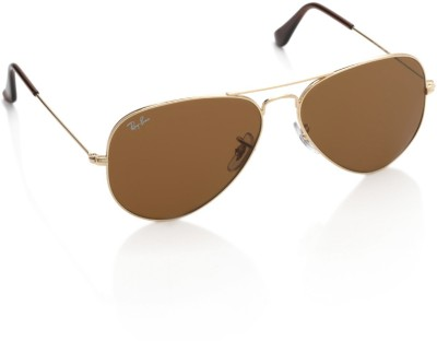 Ray-Ban 0RB3025001/33 Aviator Sunglasses(Brown)