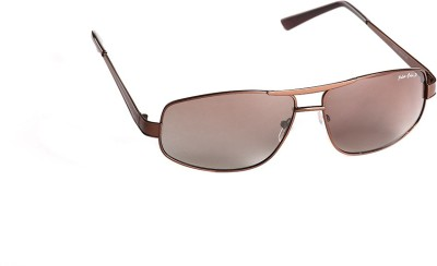 T1 Vision Technofirst Polarized Brown Large Rectangular Sunglasses