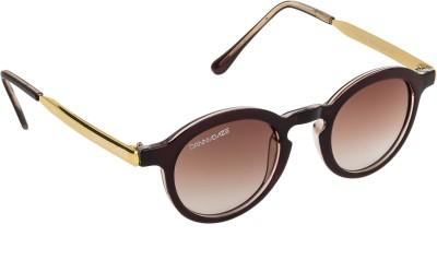 Danny Daze D-2526-C3 Round Sunglasses(Brown)