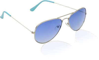 Jewel Fuel Stylish Blue Aviator Sunglasses