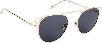 Voyage J1016MG2065 Round Sunglasses(Black)