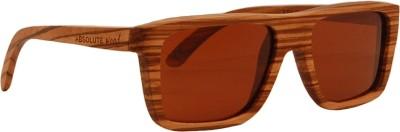 Absolute Wood Da Vinci Rectangular Sunglasses