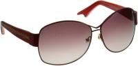 Manish Arora MNS-7512-060 Over-sized Sunglasses(Brown)