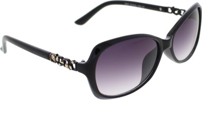 Vast WOMENS _2847_SMALL_Diamond_BLACK_GLARES Cat-eye Sunglasses(Grey)