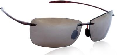 Maui Jim LIGHT_HOUSE_MJ423_26 Rectangular Sunglasses(Brown)