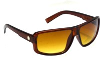 Red Knot OG-113-PBRN-60 Rectangular Sunglasses(Brown)
