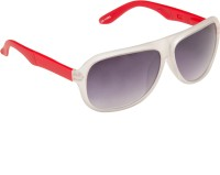 Gansta GN11085-Wht-Red Aviator Sunglasses(Grey)