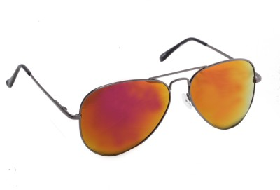 Floyd 30255_G.MTL_FIRE_MERCURY Aviator Sunglasses(Red)