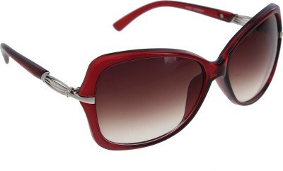 Vast WOMENS _1435_STRIPES_RED Over-sized Sunglasses(Violet)