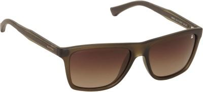 United Colors of Benetton Brown Shaded Wayfarer Sunglasses