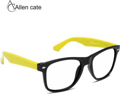 Allen Cate Yellow Side Clear Vision Wayfarer Sunglasses