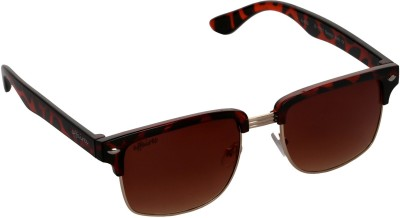 Affaires A-423 Brown Rectangular Sunglasses