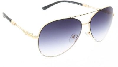 Vast 1851_men_women_black_gold_aviator Aviator Sunglasses(Grey)