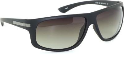 IDEE IDEE-1995-C2-P Wrap-around Sunglasses(Green)