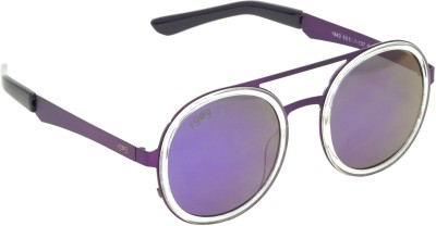 I-GOG Round Purple Mirror Round Sunglasses