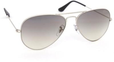 Jewel Fuel Stylish Grey Aviator Sunglasses