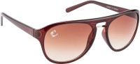 Clark N Palmer CNP-RB-626 Aviator Sunglasses(Brown)