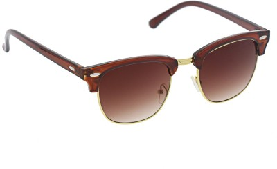 Vast CLUBMASTER_BROWN Wayfarer Sunglasses(Brown)