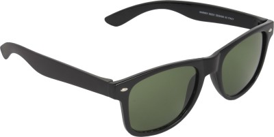 NB Black Green Good Look Wayfarer Sunglasses