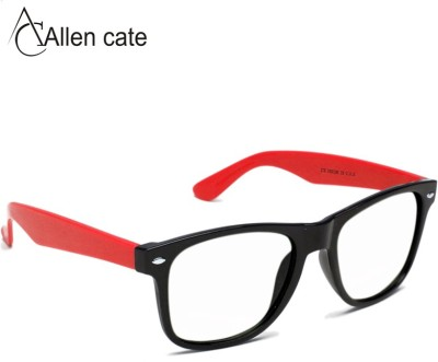 Allen Cate Red Side Clear Vision Wayfarer Sunglasses