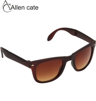 Allen Cate Brown Folding Wayfarer Sunglasses